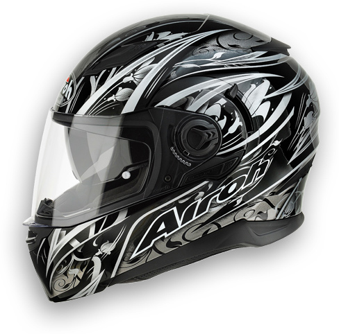 Casco moto Airoh Movement Flowers nero
