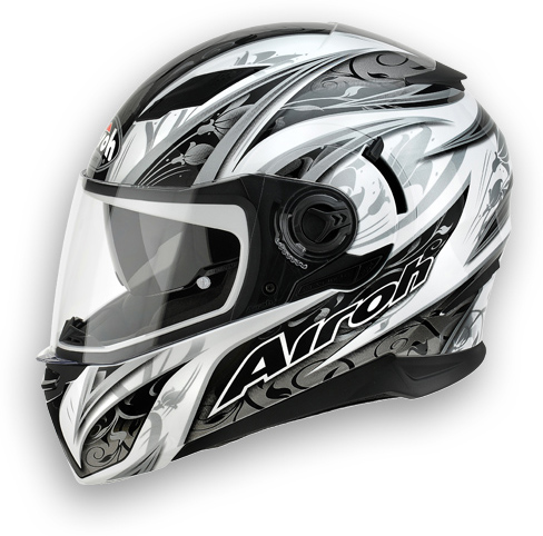 Casco moto Airoh Movement Flowers bianco