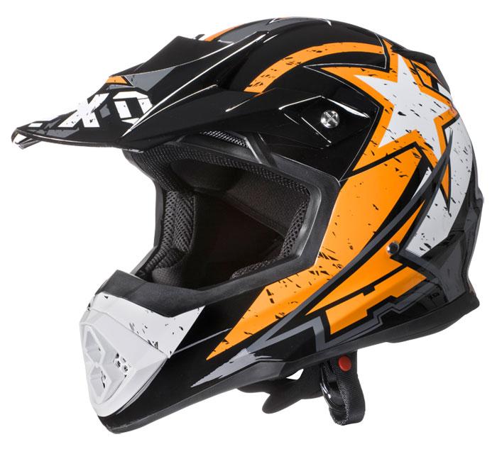 AXO Tribe cross helmet Orange Black White