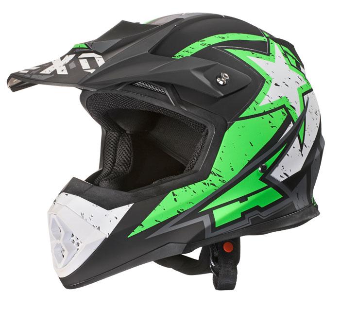 AXO Tribe cross helmet Green Black White