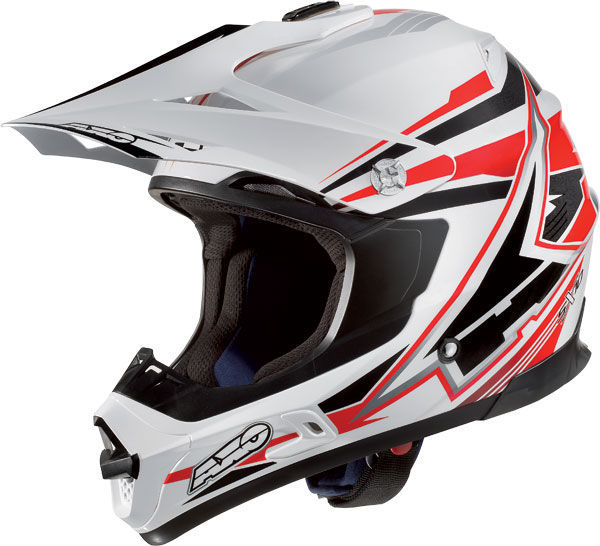Cross helmet AXO Jump SX10 White Red