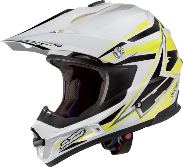 Cross helmet AXO Jump SX10 White Yellow