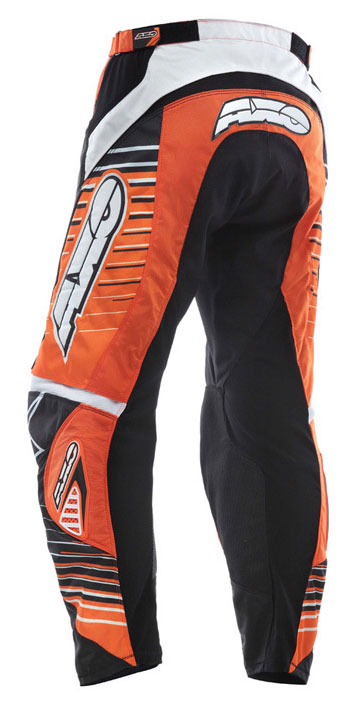 Pantaloni cross AXO Rail Arancio nero