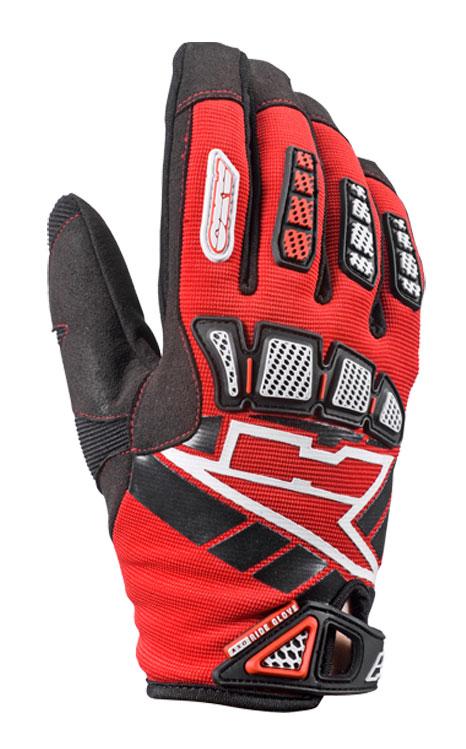 AXO Whip Jr kid cross gloves Red