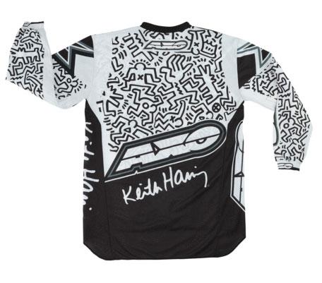 Maglia cross AXO Keith Haring Bianco