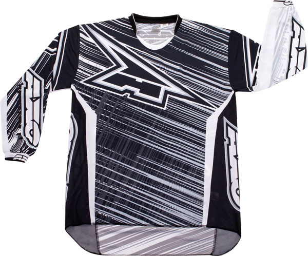 Jersey cross AXO Black White Lightning