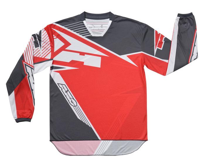 AXO SR Jr kid cross shirt Grey Red