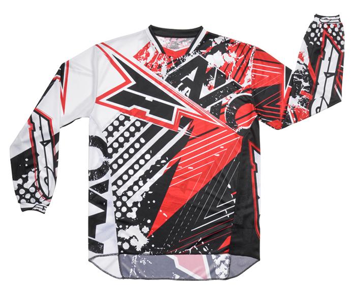AXO Grunge cross jersey Red Black
