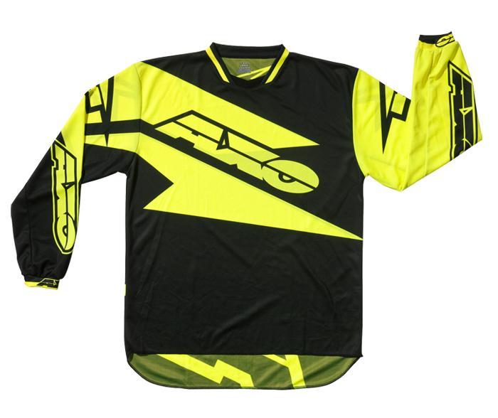 AXO Motion 2 cross jersey Black Yellow