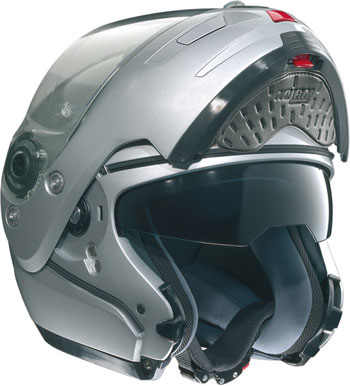 NOLAN N103 Shade N-Com flip-up helmet col. metal white