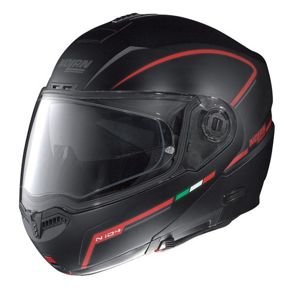 Casco moto Nolan N104 Storm N-Com flat black