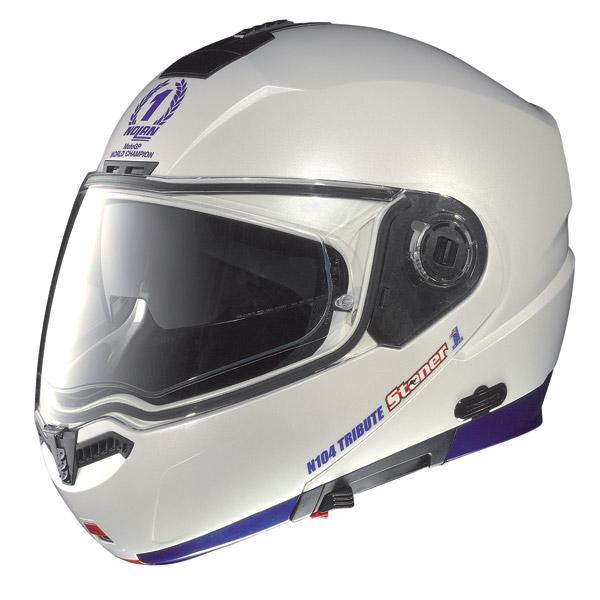 Nolan N104 Stoner N-Com open-face helmet pearl white