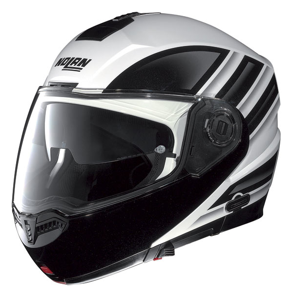 Nolan N104 Voyage N-Com open-face helmet metal white