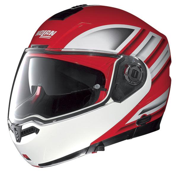 Casco moto Nolan N104 Voyage N-Com rosso corsa