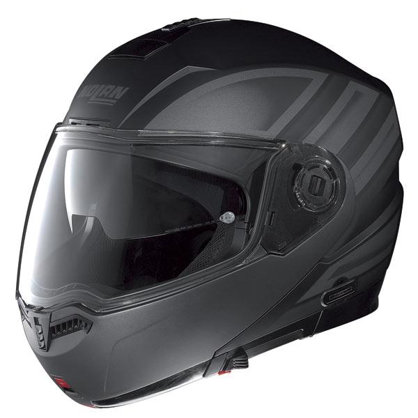 Casco moto Nolan N104 Voyage N-Com nero opaco