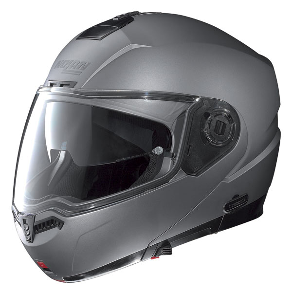 Casco moto Nolan N104 Classic N-Com arctic grey opaco
