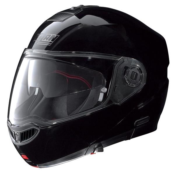 Casco moto modulare Nolan N104 Evo Classic N-Com nero lucido