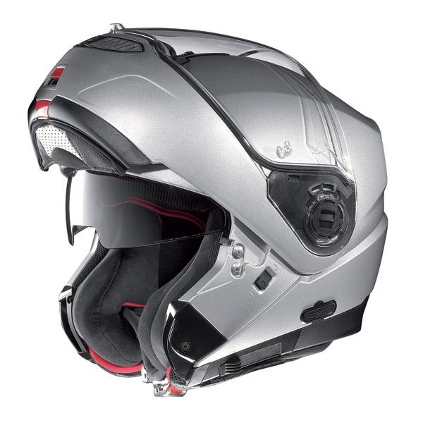 Helmet flip-up Nolan N104 Evo Classic N-Com metal white