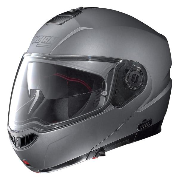 Helmet flip-up Nolan N104 Evo Classic N-Com flat arctic grey