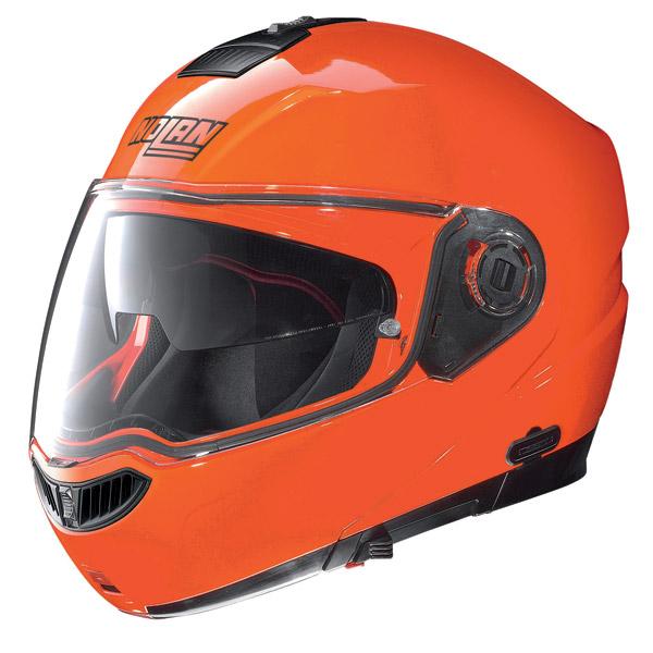Helmet flip-up Nolan N104 Evo Hi-Visibility N-Com fluo orange