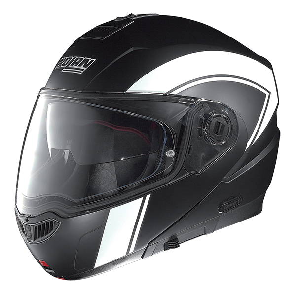 Nolan N104 Evo Scovery N-Com flip off helmet Black Matte White