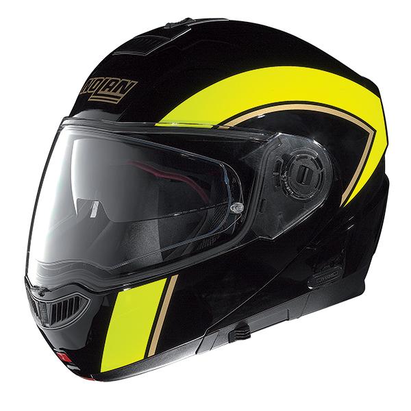 Nolan N104 Evo Scovery N-Com flip off helmet Black Yellow
