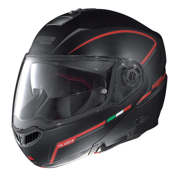 Motorcycle Helmet flip-up Nolan N104 Evo Storm N-Com matt black