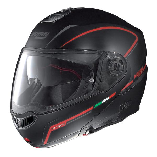 Casco moto modulare Nolan N104 Evo Storm N-Com nero opaco