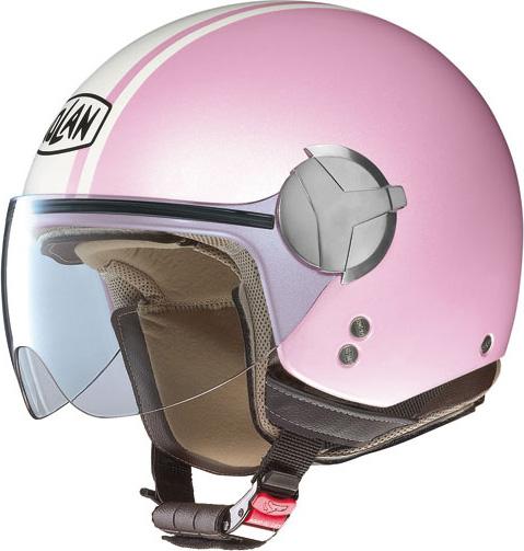 Casco moto Nolan N20 Traffic Caribe Plus pearl pink