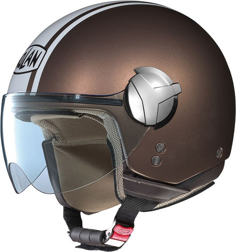 Casco moto Nolan N20 Traffic Caribe Plus pearl moka