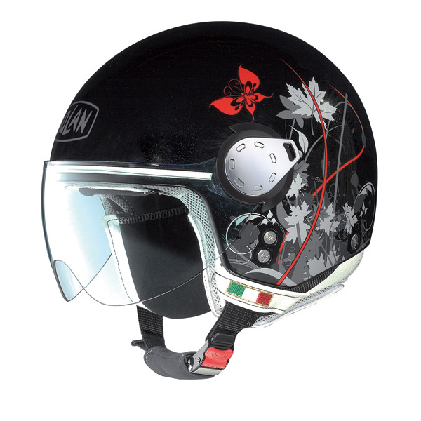Casco moto Nolan N20 Traffic Leaves Plus metal black