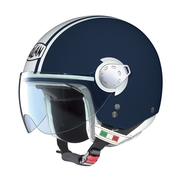 Nolan N20 Traffic Caribe Plus Blue Navy jet helmet
