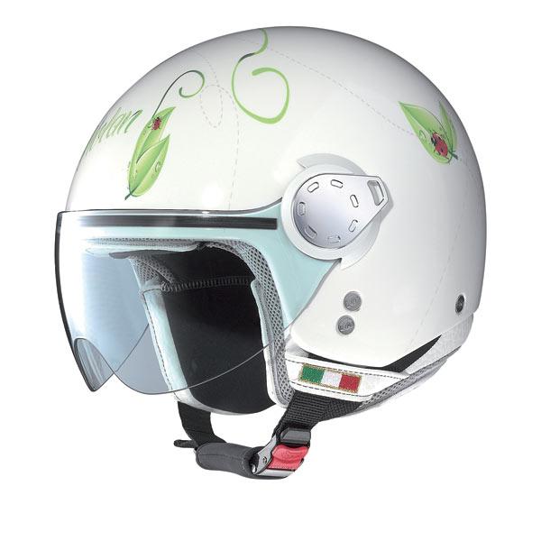 Nolan N20 Traffic Set Plus Ladybug jet helmet
