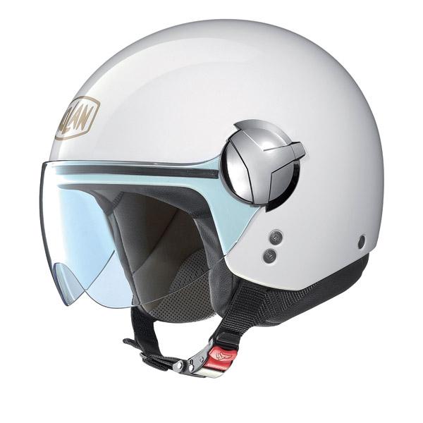 Nolan N20 Traffic 40 th Edition N-Com jet helmet pure white
