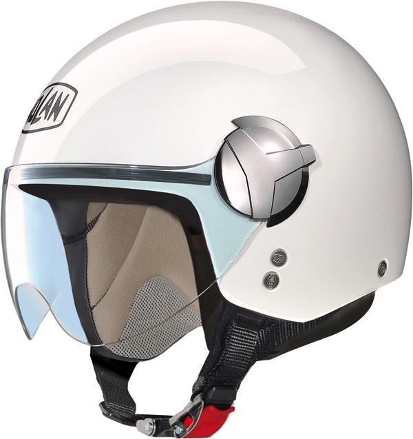 Nolan N20 Traffic Easy jet helmet pure white