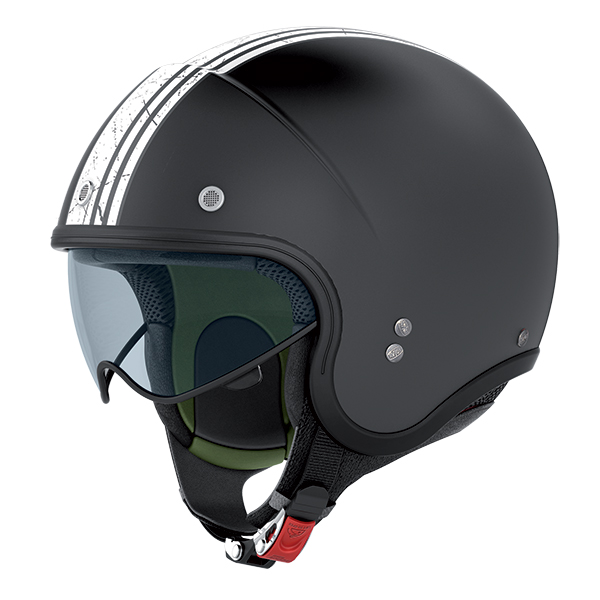 Nolan N21 Banner jet helmet Matte Black White