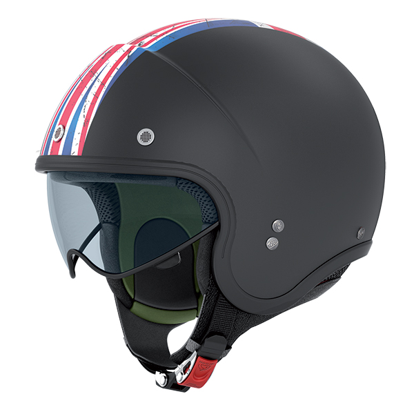 Nolan N21 Banner jet helmet Matte Black UK