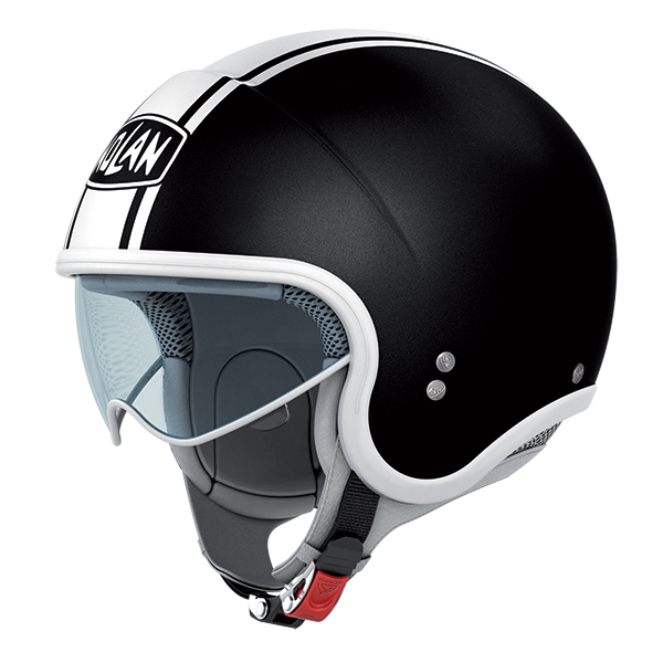 Nolan N21 Caribe jet helmet Gloss Black White