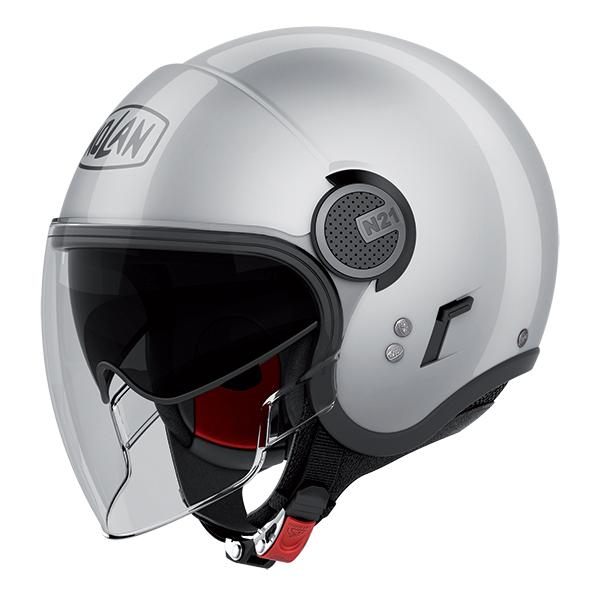 Nolan N21 Visor Classic jet helmet Silver