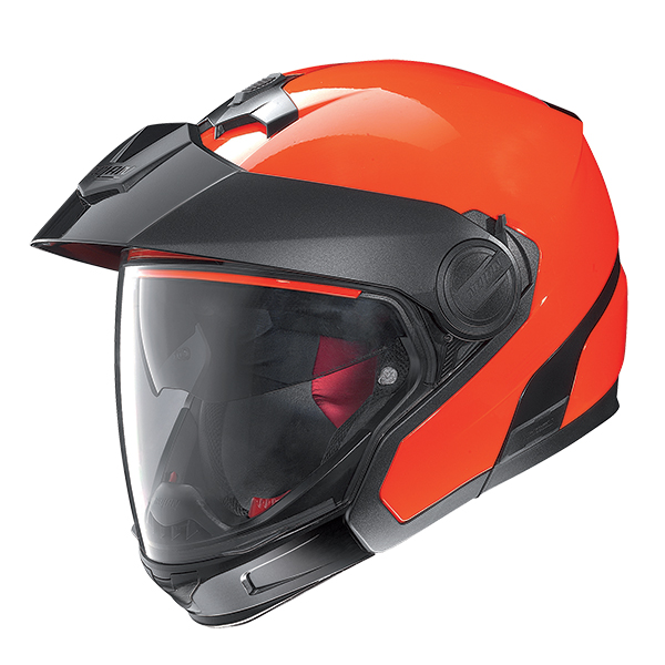 Nolan N40Full Hi-Visibility Plus N-Com flip off helmet Orange
