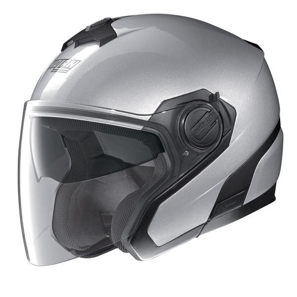 Motorcycle Helmet jet Nolan N40 N-Com Special Salt Silver