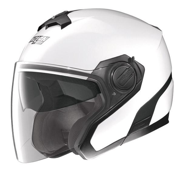 Casco moto jet Nolan N40 N-Com Special Bianco