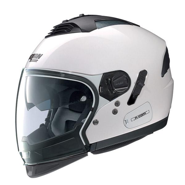 Nolan N43E Air Special N-com pure white crossover helmet