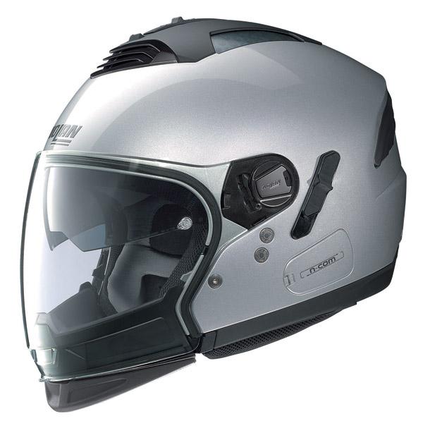 Nolan N43E Air Classic N-com platinum silver crossover helmet
