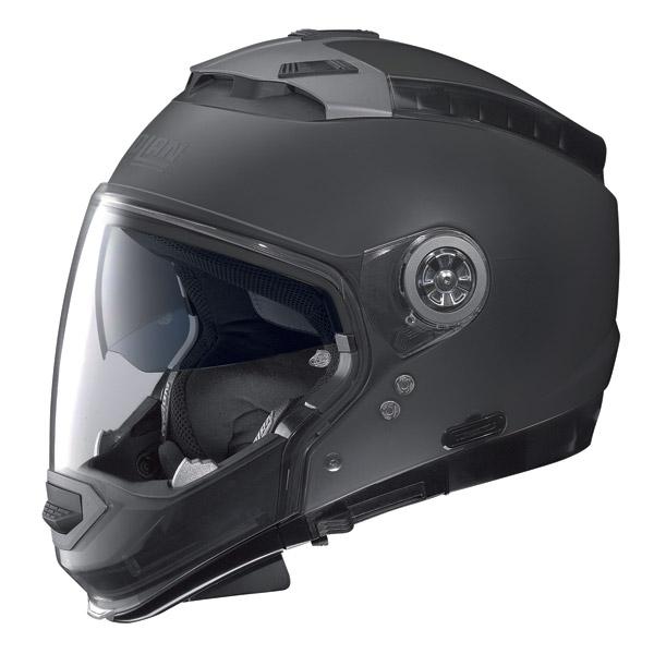 Casco moto Nolan N44 Classic N-com flat black omol. P-J