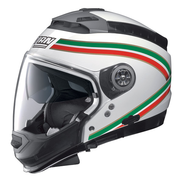 Nolan N44 Storm crossover helmet metal white omol. P-J