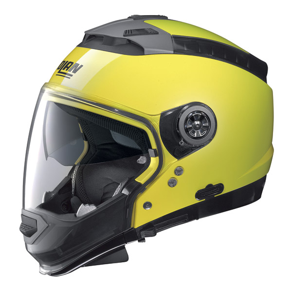 Nolan N44  Hi-Visibility crossover helmet fluo yellow omol. P-J