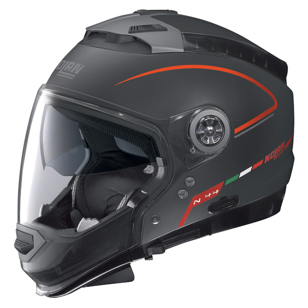 Nolan N44 Storm crossover helmet flat black omol. P-J