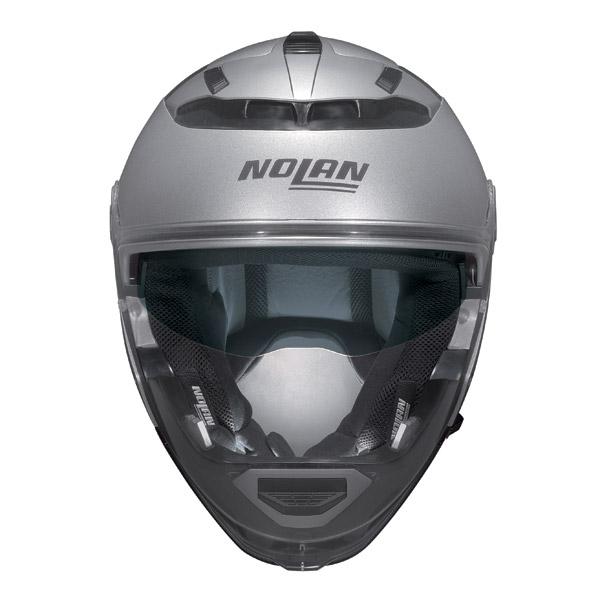 Nolan N44 Special N-Com crossover helmet salt silver omol P-J