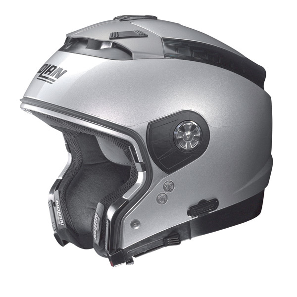 Nolan N44 Tech N-Com crossover helmet metal white omol. P-J